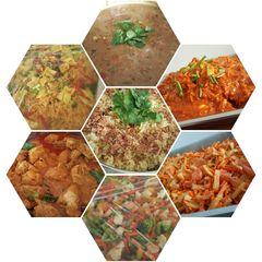 Plain briyani rice, achar timun, chicken sambal, mix veg