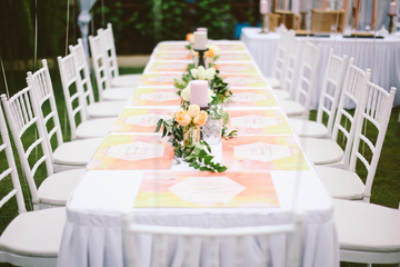 Personalised Tablemats & Floral Deco
