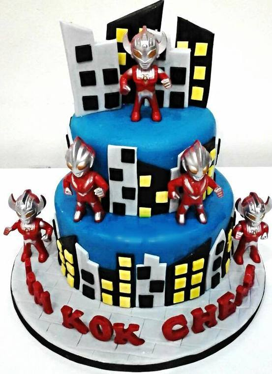 Ultraman Big Hero 6 Transformers by Eats Treats Bakery