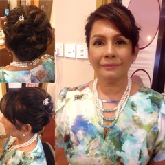 mother-in-law makeup & hairdo