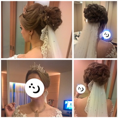 Makeup & Hairdo done for a bride from Yemen *Face censored due to bride's request