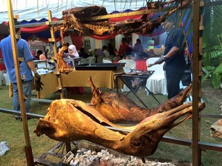 4 whole lamb grilled