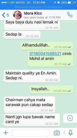 Sedap -maintain quality