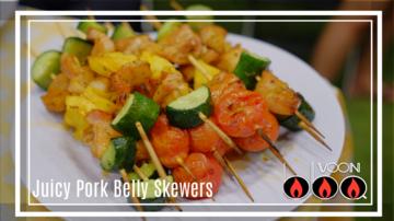 Juicy Pork Belly Skewers