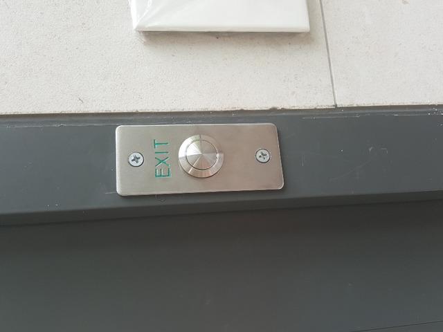 metal exit push button