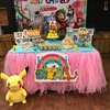 Pokemon theme dessert table