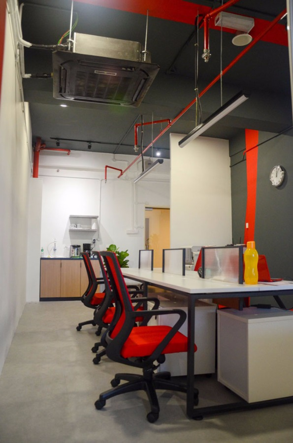 Infinity by EzyOffice - Completed Inspirations Ideas Below 800 sqft Office Meeting Rooms Office Small Kitchen Modern Contemporary Paint Kitchen Cabinet Furniture Glasswork Artwork Kuala Lumpur - Recommend.my