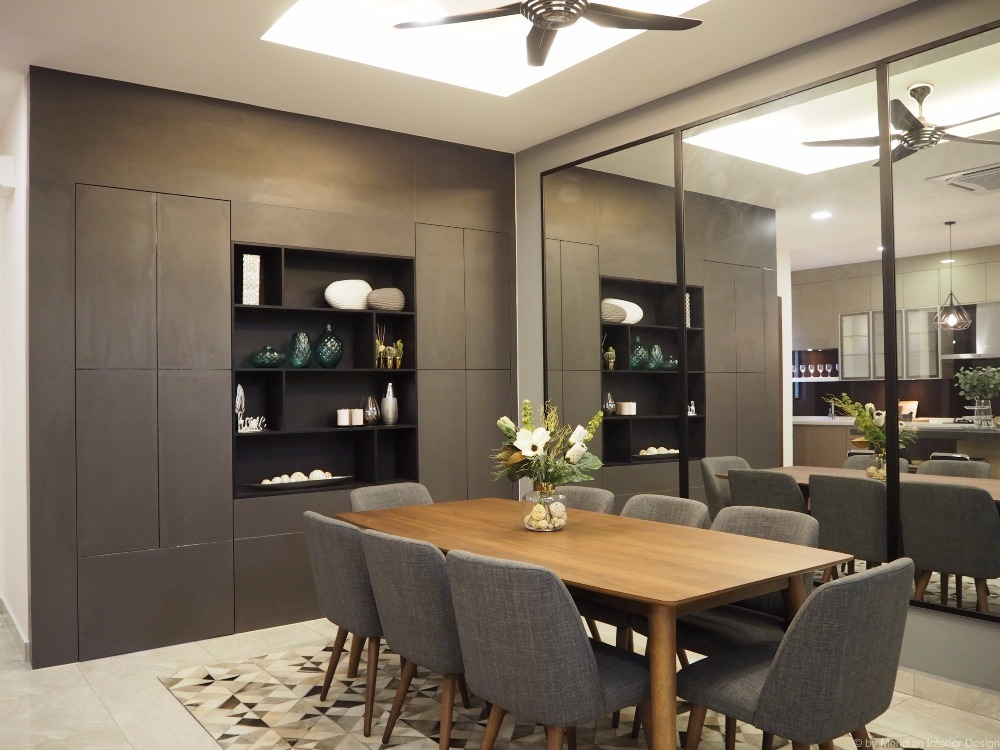 Bungalow in Ampang 2 by Meridian Inspiration Sdn Bhd - Completed Semi-D / Bungalow Walk-in-wardrobe Kitchen Living Living Room Bedroom Dining Study / Office Contemporary Modern - Recommend.my