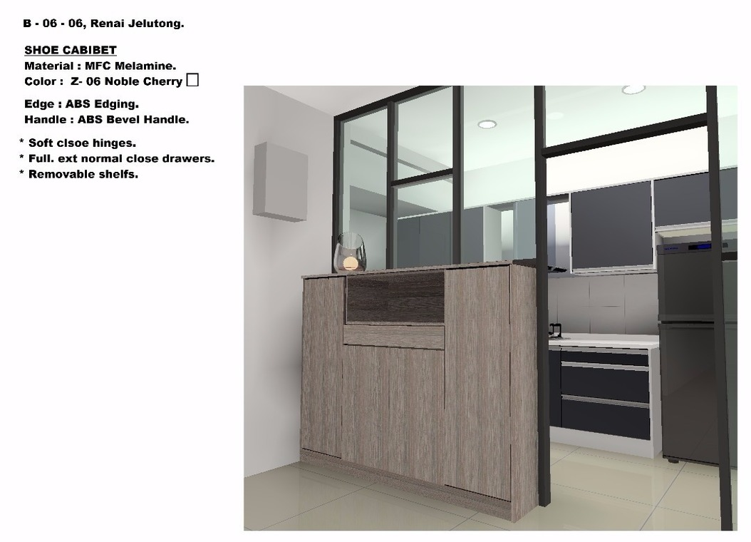 Bukit Jelutong  by Hexagon Concept - Kitchen Cabinets Cabinet Wardrobe TV Cabinet / Console Walk In Wardrobe Display Shelves Counter Top Completed Modern - Recommend.my