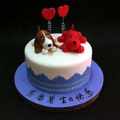 Patrick Dog n Hush Puppies Birthday Cake