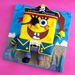 SpongeBob Pirate Patry Cakes