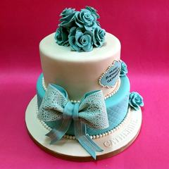 Tiffanny Color Themed Stacked Cake