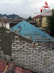 Roof brick Layering