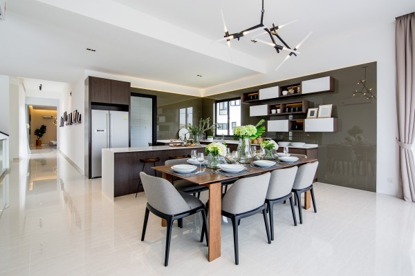 Jadehills Premium Bungalow  by MIL Design & Construction - Completed Above 2400 sqft Semi-D / Bungalow Bathroom Walk-in-wardrobe Bedroom Kids Bedroom Living Living Room Small Kitchen Modern Contemporary Showroom Sitting Room Dining Kitchen Entrance /  Foyer Lounge - Recommend.my