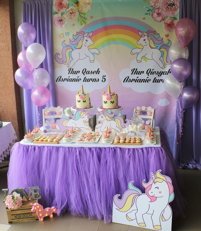 pastel purple unicorn birthday party by decor n beyond recommend my