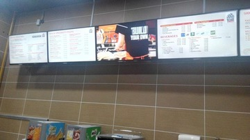 Menu Board for Fast Food Restaurant