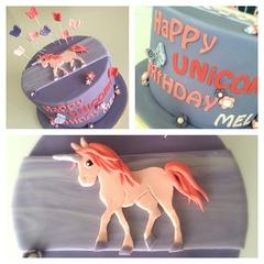 2D Unicorn cake