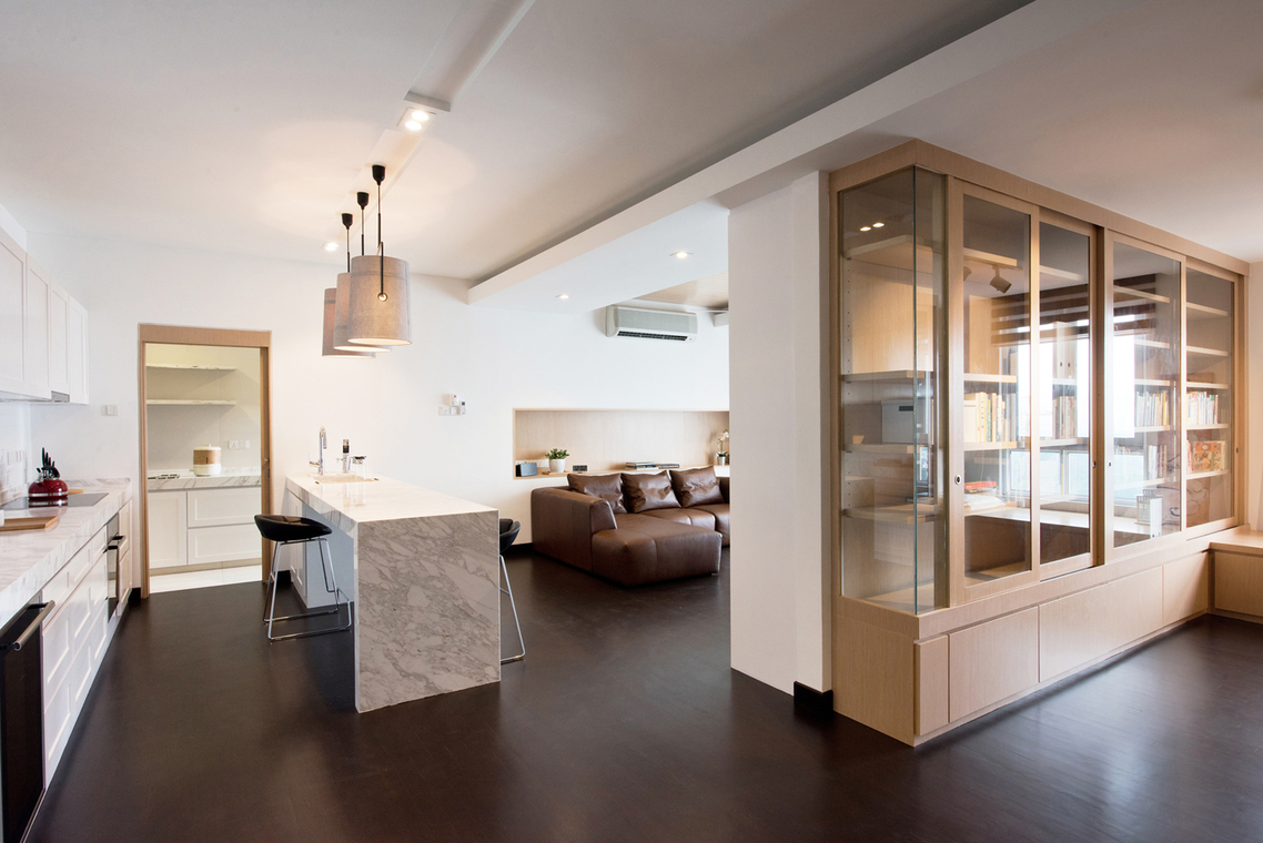 Project- CASA TROPICANA by Pocket Square - Bedroom Kitchen Living Living Room Study / Office Completed 1200 - 1800 sqft Carpentry Flooring Paint Ceiling - Recommend.my