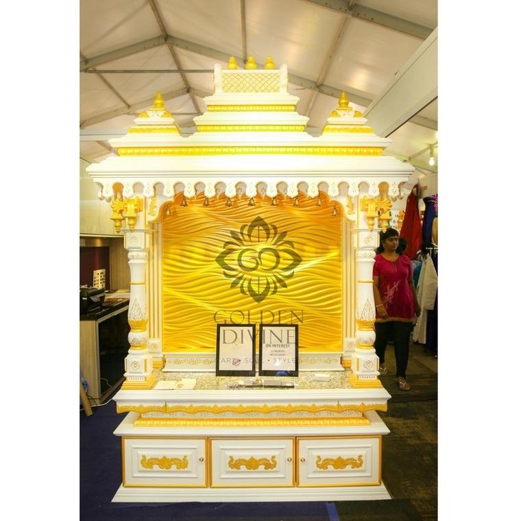 Pooja Altar Design By Johnids Interior Design Studio