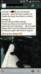 Compliments from expat cat sitting client