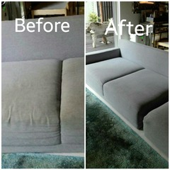 Fabric sofa .before and after