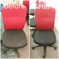 Office chair .. Before and after
