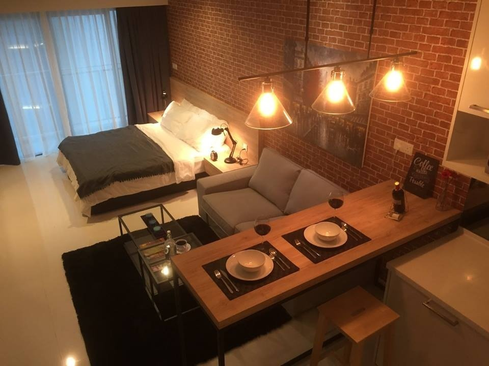 Summer Suite by AMORPHOUS DESIGN SDN BHD - Completed 800 - 1200 sqft Studio Small Kitchen Bedroom Dining Modern - Recommend.my