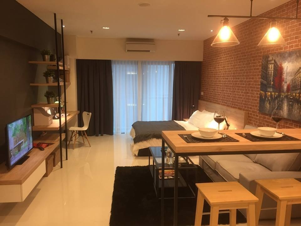 495 sq ft Summer Suite Condo in KL by AMORPHOUS DESIGN SDN BHD - Completed 800 - 1200 sqft Studio Small Kitchen Bedroom Dining Modern - Recommend.my
