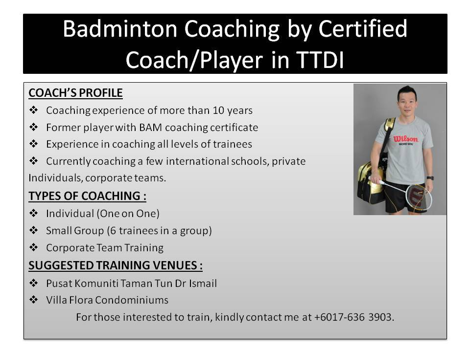 VRC Badminton Coaching