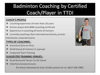 VRC Badminton Coaching