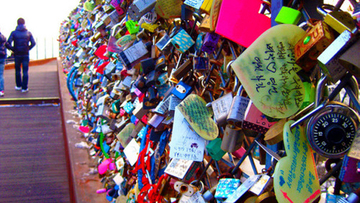 Medium love locks seoul tower