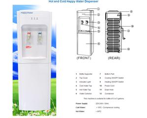 Medium happywater dispener specifications