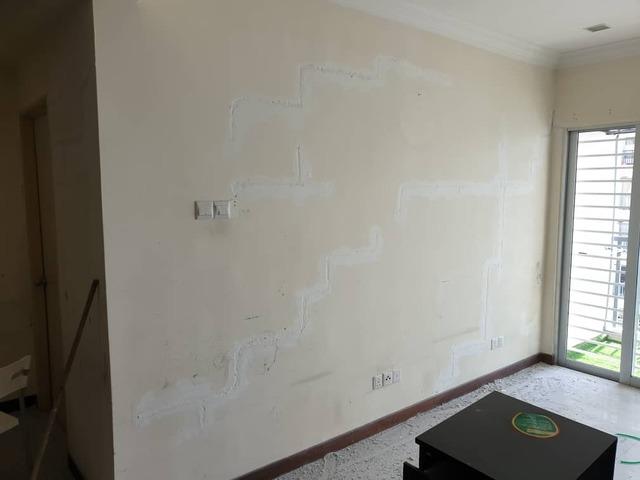 Surface preparation work