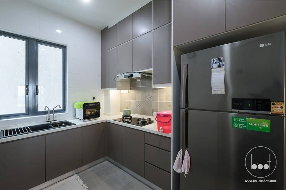 Nautica Lakesuites Condo by BND Studio - Completed 800 - 1200 sqft Condo / Apartment Kitchen Living Living Room Bedroom Bathroom Contemporary Curtain Wetworks Flooring Carpentry 3D Design Paint Kitchen Cabinet Furniture Plaster Ceiling Electrical - Recommend.my