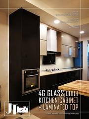 Medium 4g glass door kitchen cabinet 9b