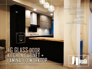 Medium 4g glass door kitchen cabinet 9a