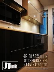 Medium 4g glass door kitchen cabinet 9c