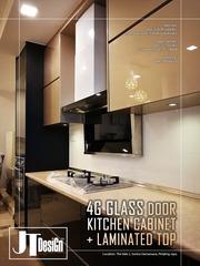 Medium 4g glass door kitchen cabinet 9d