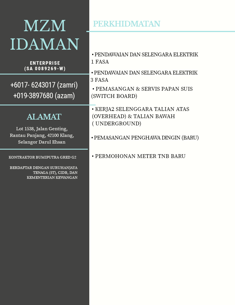 MZM IDAMAN Enterprise