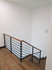 With Mild steel Wooden Railing