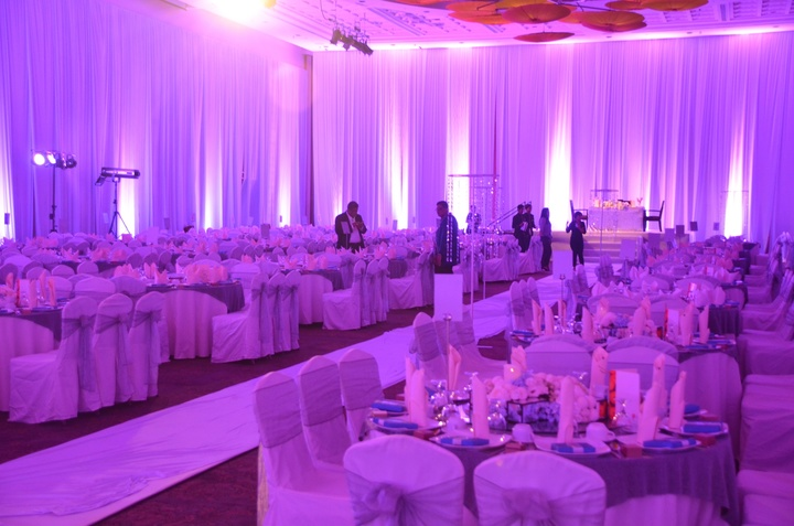 Sime Derby convention centre lit for a Wedding