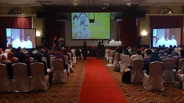 A UNICEF convention in Putra Jaya with our Sound and Projection