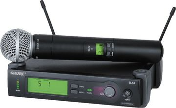 Shure SM58 beta wireless microphones