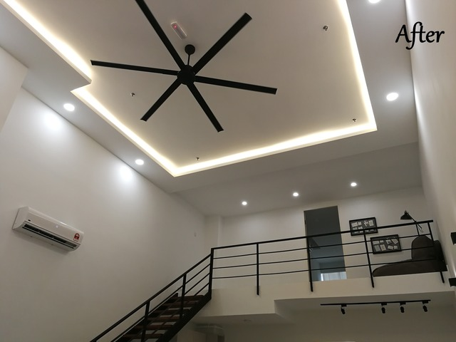 Ceiling and Fan