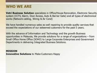 Vetri Business Solution