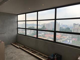 Customised window frame.