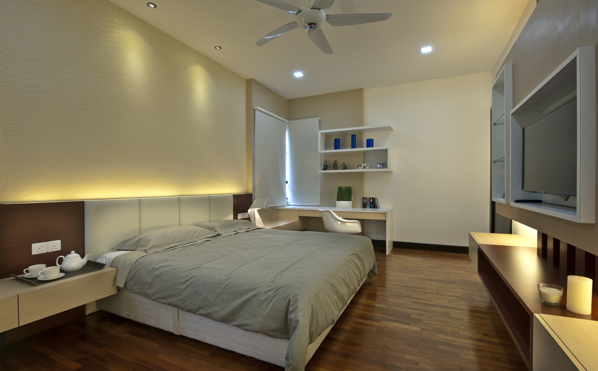 Residential Semi-D House at Aman Sari,Puchong by Surface R Sdn Bhd - Completed 1800 - 2400 sqft Semi-D / Bungalow Living Room Bedroom Kitchen Display Shelf Entrance /  Foyer Dining Living Zen Contemporary - Recommend.my