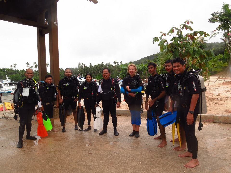 Open water scuba instructor