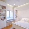 Thumb window bench with storage  studio room