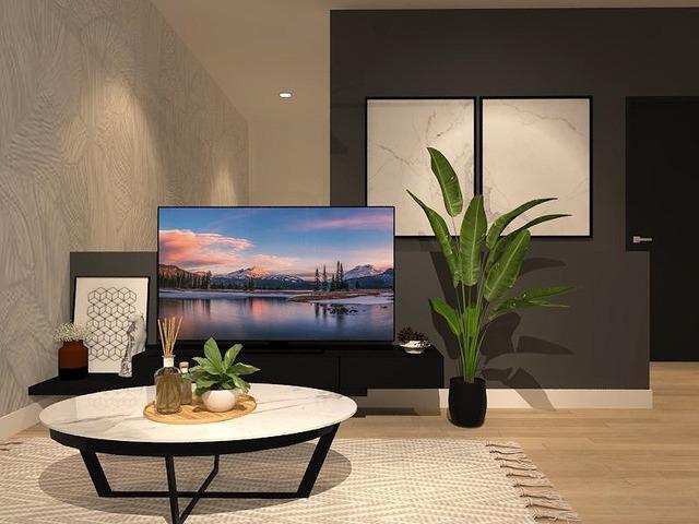 Tv console area